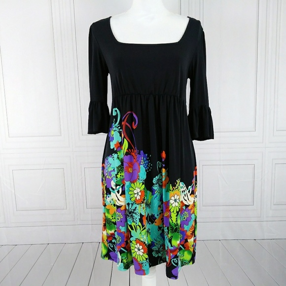5d75370229 ECI Dresses | New York Bell Sleeve Square Neck Dress Sz 6 | Poshmark